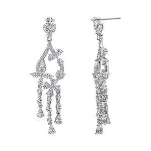 kiera Jewelry - NWT • MARQUISE FLOWER CHANDELIER EARRINGS